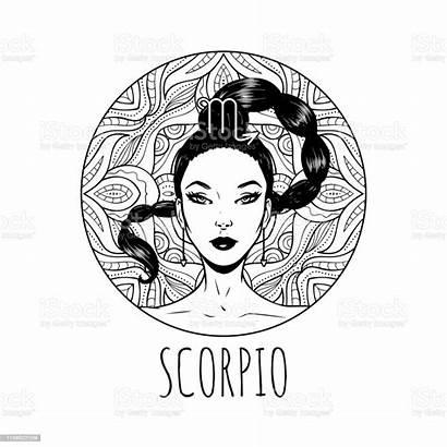 Scorpio Zodiac Coloring Symbol Scorpion Signs Horoscope