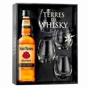 Coffret Verre Whisky : coffret terres de whisky four roses kentucky straight bourbon ~ Teatrodelosmanantiales.com Idées de Décoration