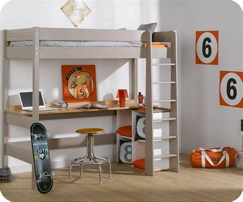 lit avec bureau lit mezzanine enfant clay avec matelas vente mobilier