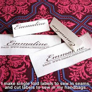 Emmaline bags sewing patterns and purse supplies make for Create fabric labels