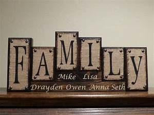 name blocks custom living room decor family name With custom block letters