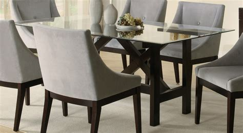 glass dining room table set glass dining table set