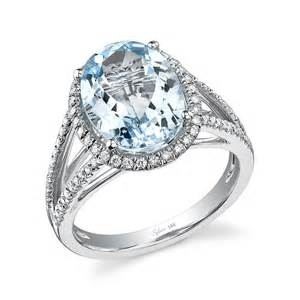 birthstone wedding rings add march s birthstone aquamarine to your engagement ring