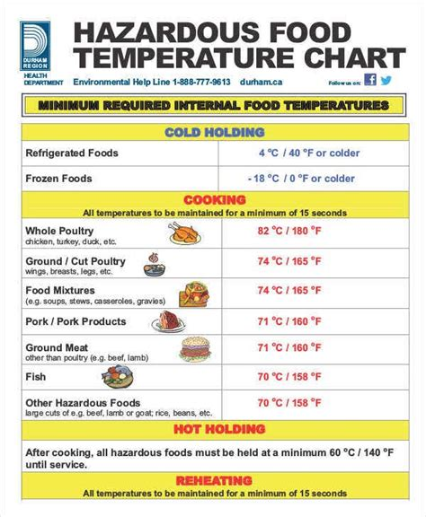 temperature chart templates   word  format