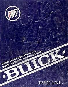 1990 Buick Regal 3800 Engine Repair Shop Manual Original