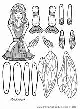 Fairy Coloring Pages Puppets Crafts Puppet Paper Cut Dolls Doll Printable Fairies Pdf Craft Colouring Pheemcfaddell Fastener Sheets Meadowlark Template sketch template