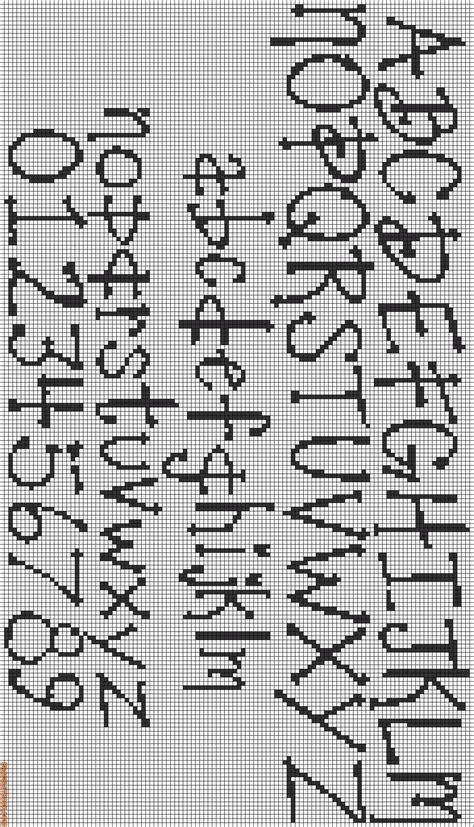 cross stitch alphabet patterns ideas  pinterest