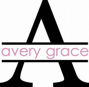 large monogram letter with name wall decal touch of With letter decals