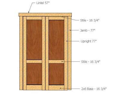 shed door sizes