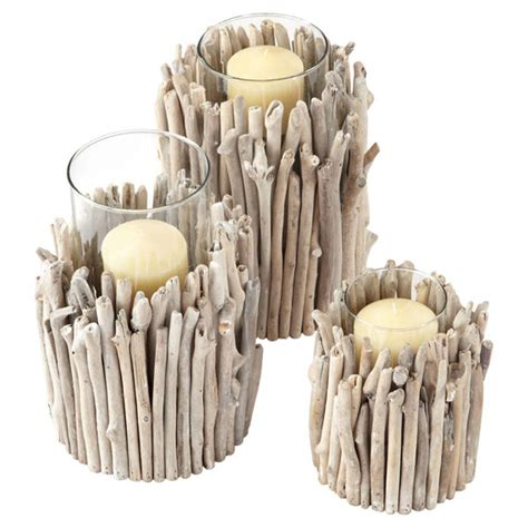 driftwood candle holder driftwood candle holder low wide oka