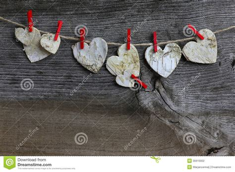 Merry Christmas Hanging Decoration Birch Hearts And Red