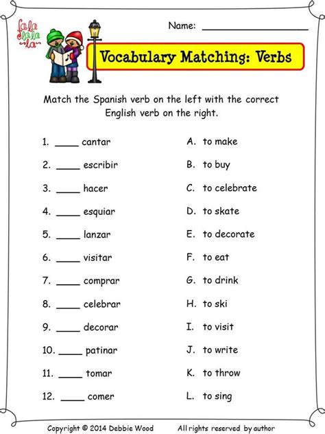 christmas activities nouns and verbs debbie resources christmas
