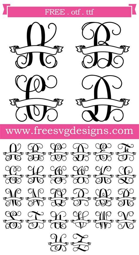 svg files svg png dxf script vine banner monogram font cricut monogram monogram