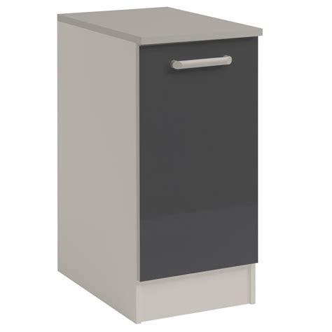 but meuble bas cuisine meuble bas cuisine 1 porte 40cm quot shiny quot gris