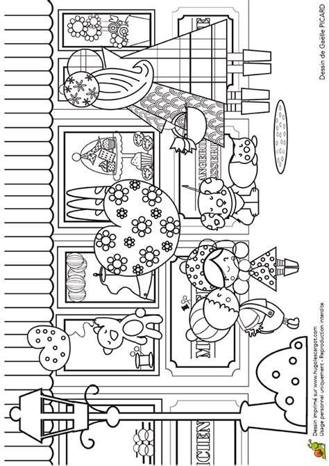 jeux de cuisine de papa coloriage vitrines et magasins sur hugolescargot com
