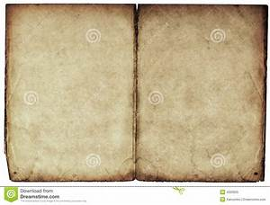 Old Blank Book Open On Both Pages. Stock Image - Image ...