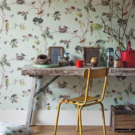 sanderson woodland chorus  wallpaper creammulti
