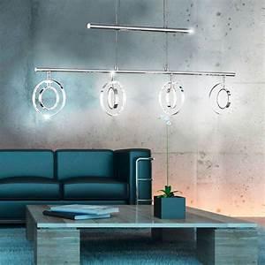 Esszimmer Lampe Led : led 16 w pendel leuchte ringe beweglich esszimmer h nge lampe h henverstellbar ebay ~ Markanthonyermac.com Haus und Dekorationen