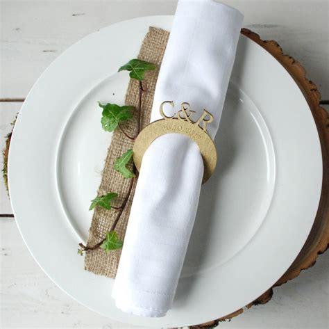 personalised monogrammed wedding napkin rings by bespoke