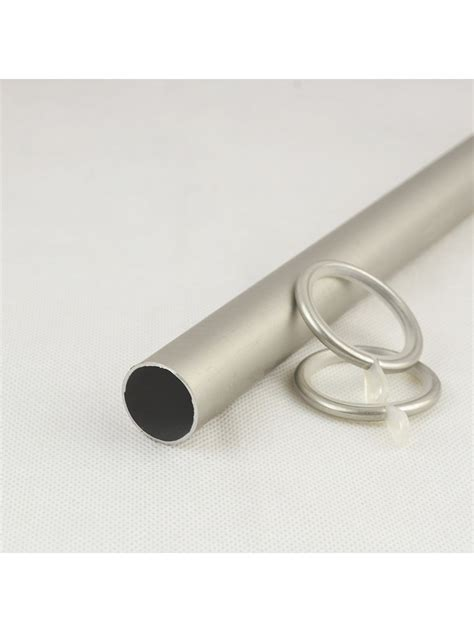 7 8 quot silver wrought iron single curtain rod set