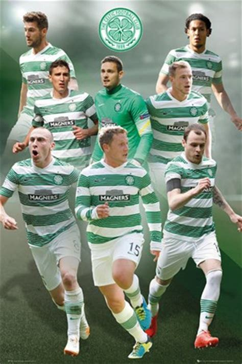 Star Players, Celtic Football Club 2014/15 Poster - PopArtUK