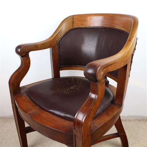 walnut bow back wide desk arm chair antiques atlas