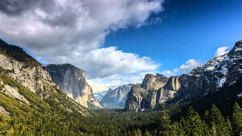 Yosemite Tunnel View Timelapse - YouTube