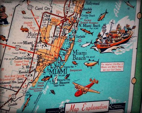 Tattoo Myrtle Beach miami beach key biscayne retro beach map print funky 570 x 456 · jpeg