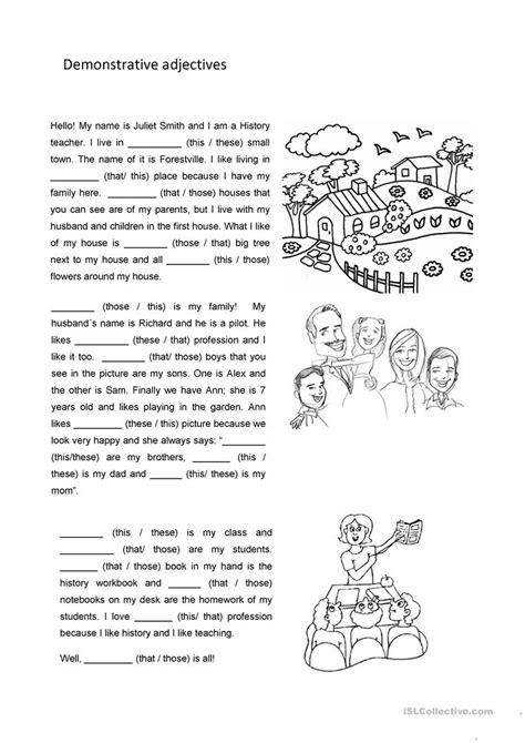 demonstrative adjectives worksheet free esl printable worksheets made by teachers