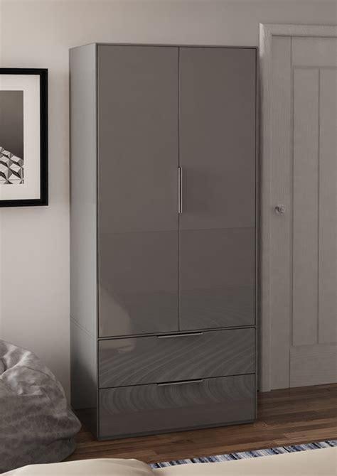 smart pure grey gloss wardrobe wardrobes