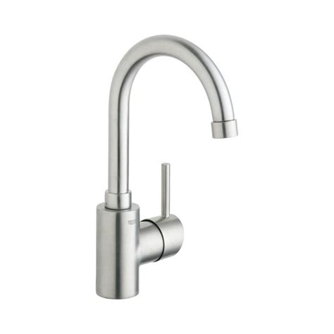 grohe kitchen sink faucets shop grohe concetto brushed nickel 1 handle single