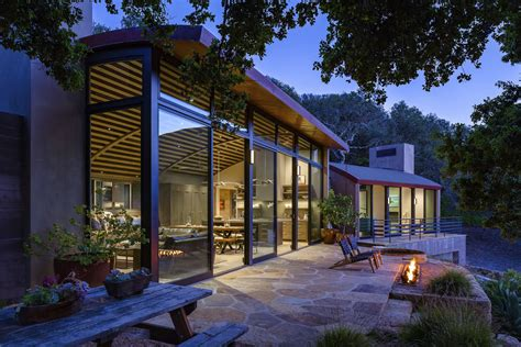 rustic modern country house  santa barbara  curved roof idesignarch interior design
