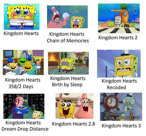 kingdom hearts  spongebob   perfect meme