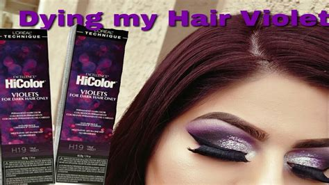 hi color loreal loreal hicolor highlights purple hairstyle inspirations 2018