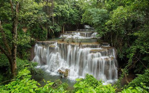 Download Wallpapers Thailand Tropics Waterfalls