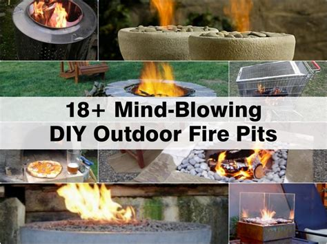mind blowing diy outdoor fire pits