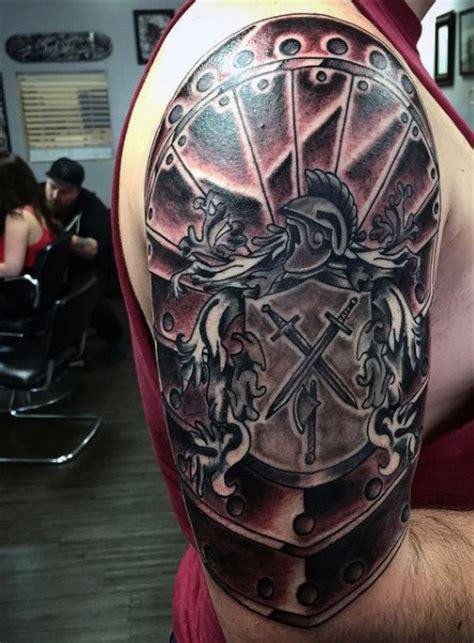 top   armor tattoo designs  men walking fortress