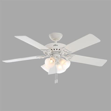 studio series 52 in indoor white ceiling fan with