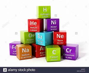 Periodic Table Elements Isolated On White Background  3d