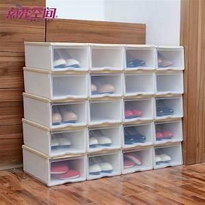 Boite A Chaussure Transparente : rangement chaussures transparent ~ Teatrodelosmanantiales.com Idées de Décoration