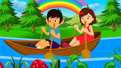 Row Your Boat In English by Row Row Row Your Boat English Nursery Rhyme With Lyrics