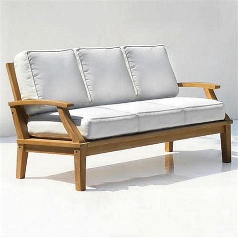 teak commercial grade deep seating sofa  cushions