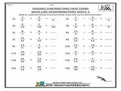 Theme Of The Day Adding And Subtraction Of Fractions Theme Of The Day Adding Fractions With Unlike Denominator Denominators Worksheets Adding And Subtracting Fractions With Like Like Denominators Adding Fractions Worksheet Template