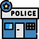 Police Station Cartoon Icon Clipart Clip Officer