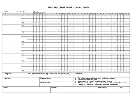 medication schedule template month google search