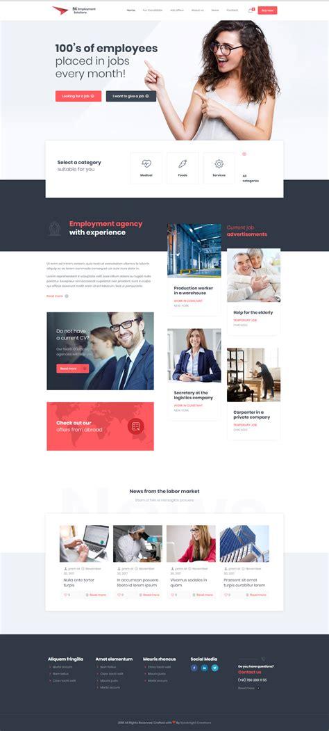 employment services website design demo employment