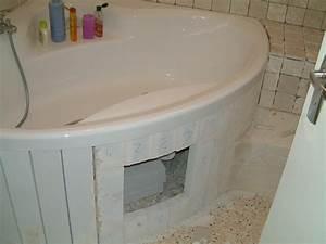 Tablier De Baignoire À Carreler : carreler baignoire angle maison et mobilier ~ Dode.kayakingforconservation.com Idées de Décoration