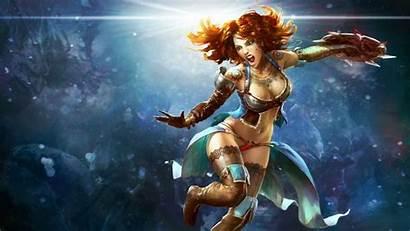 Sci Fantasy Fi Warrior Rpg Redhead Babe
