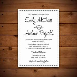 Printable vintage style wedding invitation template dark for Wedding invitation sample word document