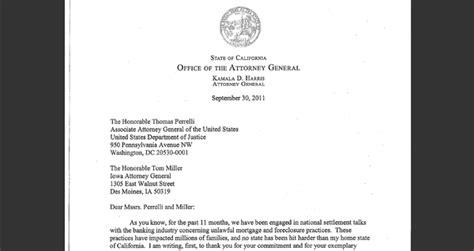 Kamala Harris Letter